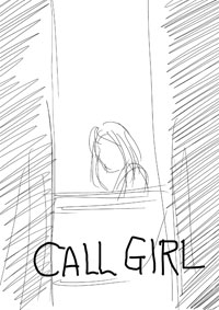 CALL GIRL COMIC drawing 2