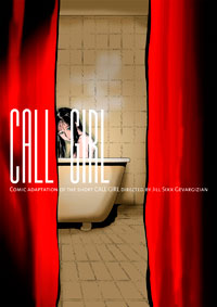 CALL GIRL COMIC cover original illustration